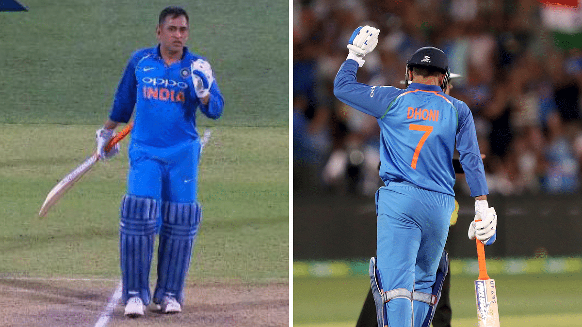 While batting with Karthik in the 45th over, it appeared that Dhoni didn't ground his bat while completing a run.