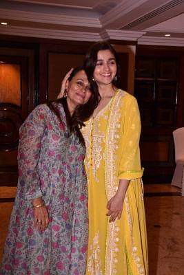 Actress Alia Bhatt along with her mother Soni Razdan. (Photo: IANS)