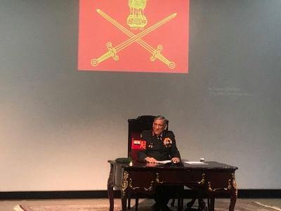 New Delhi: Army Chief General Bipin Rawat addresses Indian Army