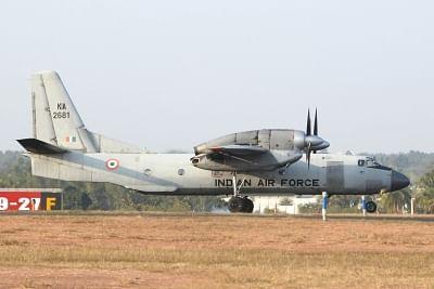 Bengaluru: An IAF aircraft during a rehearsal ahead of
