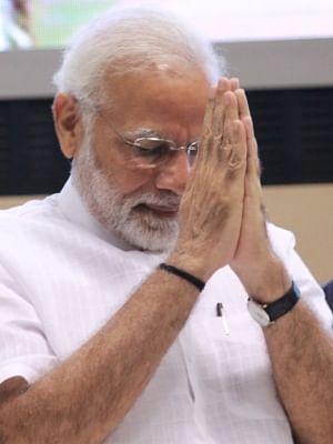 Modi returns after praying at Padmanabha Swamy temple