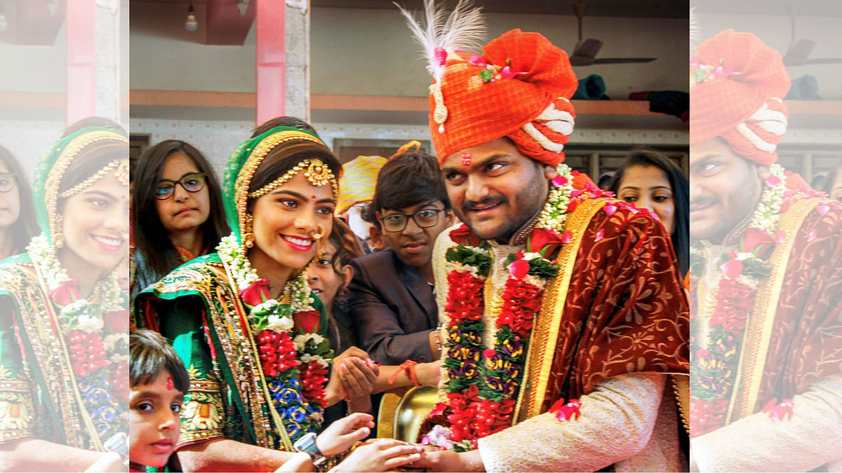 Hardik Patel got married in a close ceremony of only about 100 guests.