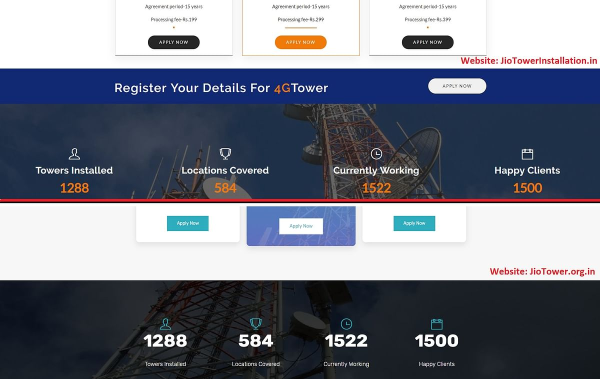 Both the websites are almost identical, barring a few design and structural changes. See the same number of towers installed etc.