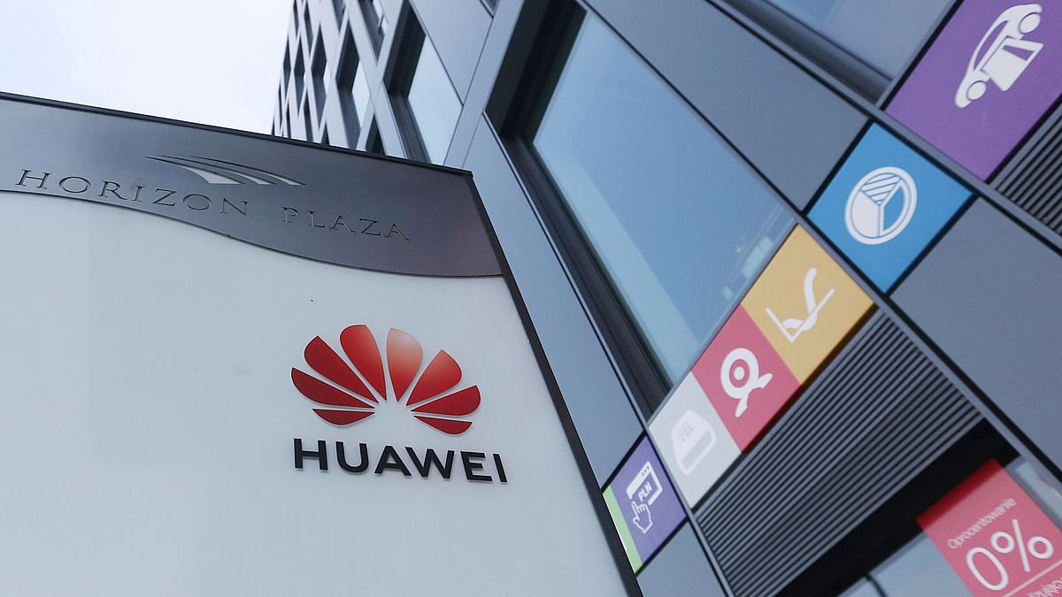The Huawei logo displayed at the main office of Chinese tech giant Huawei in Warsaw, Poland. Poland's Internal Security Agency has charged a Chinese manager at Huawei in Poland and one of its own former officers with espionage against Poland on behalf of China.