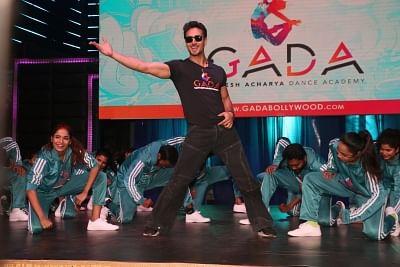 Mumbai: Actor Tiger Shroff at choreographer Ganesh Acharya