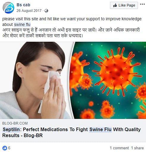 No, Septilin Will Not Help Combat or Treat Swine Flu