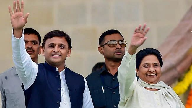 A survey conducted by TV news channel Aaj Tak in association with Karvy predicted a victory for the Opposition alliance of SP-BSP-RLD in Uttar Pradesh.