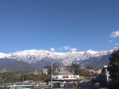 Palampur: A view of snow clad Dhauladhar range as seen from Palampur, Himachal Pradesh, on Jan 9, 2019. (Photo: IANS)