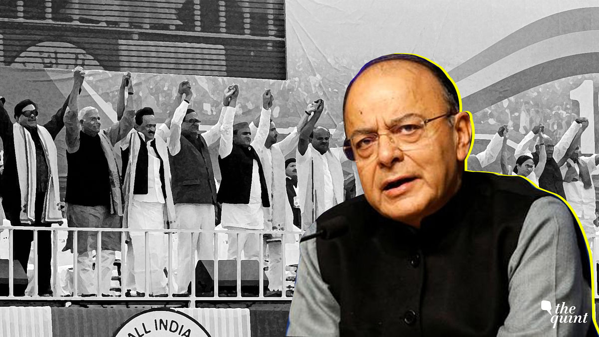 In his latest blog, FM Arun Jaitley says negativity was the flavour in the mega opposition rally in Kolkata.