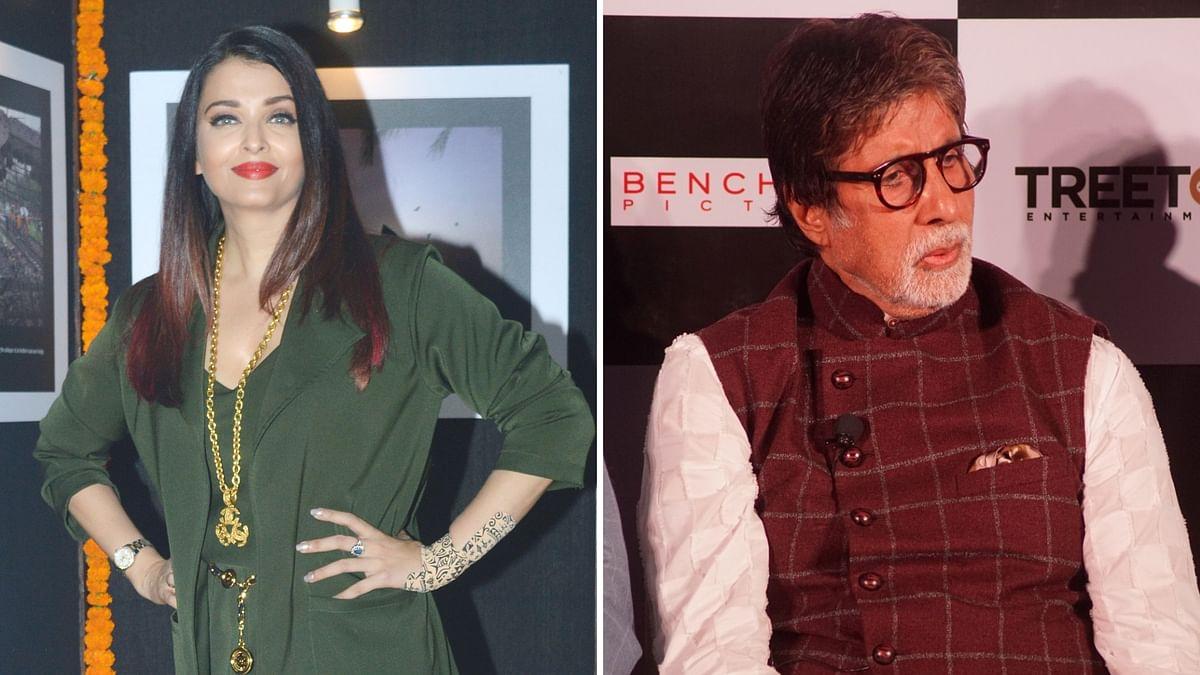 Aishwarya Rai and Amitabh Bachchan.