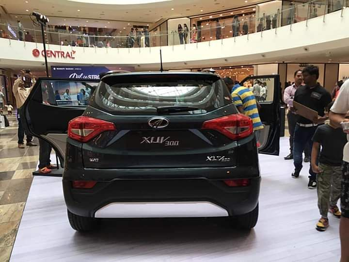 The Mahindra XUV300 has wrap around LED tail-lamps and rear fog lamps.