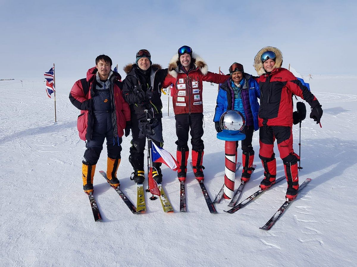 The IPS officer, who has two young children, finished her South Pole trek in eight days on 13 January during which she and seven other members of her team walked 111 miles.