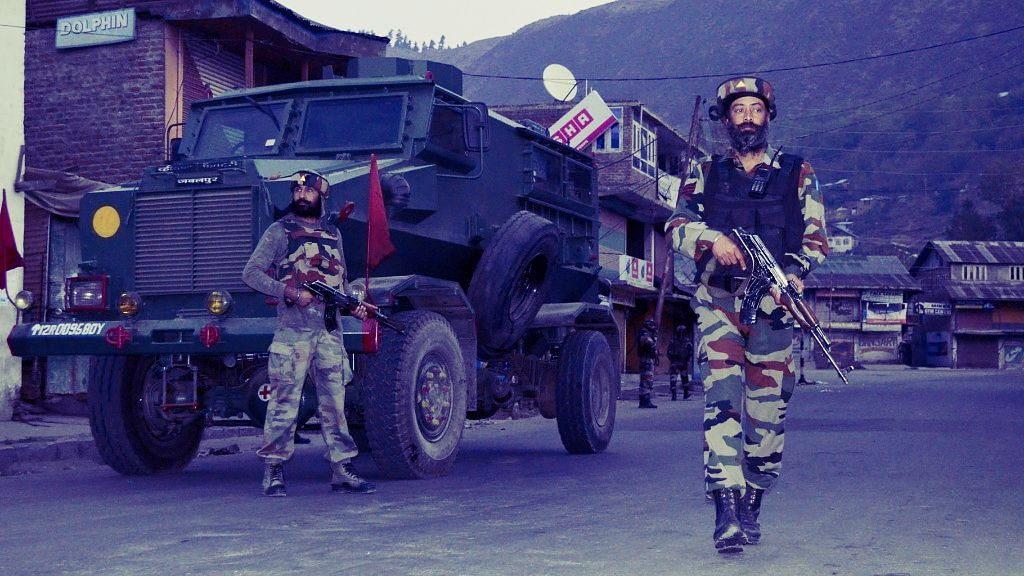 File photo of armed force personnel in Baramulla, Kashmir. Image used for representational purposes.