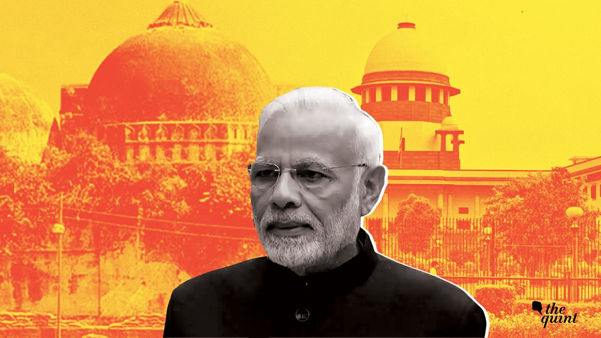 The Modi government has filed an application in the Supreme Court asking for the return of most of the land acquired by the Centre in 1993.