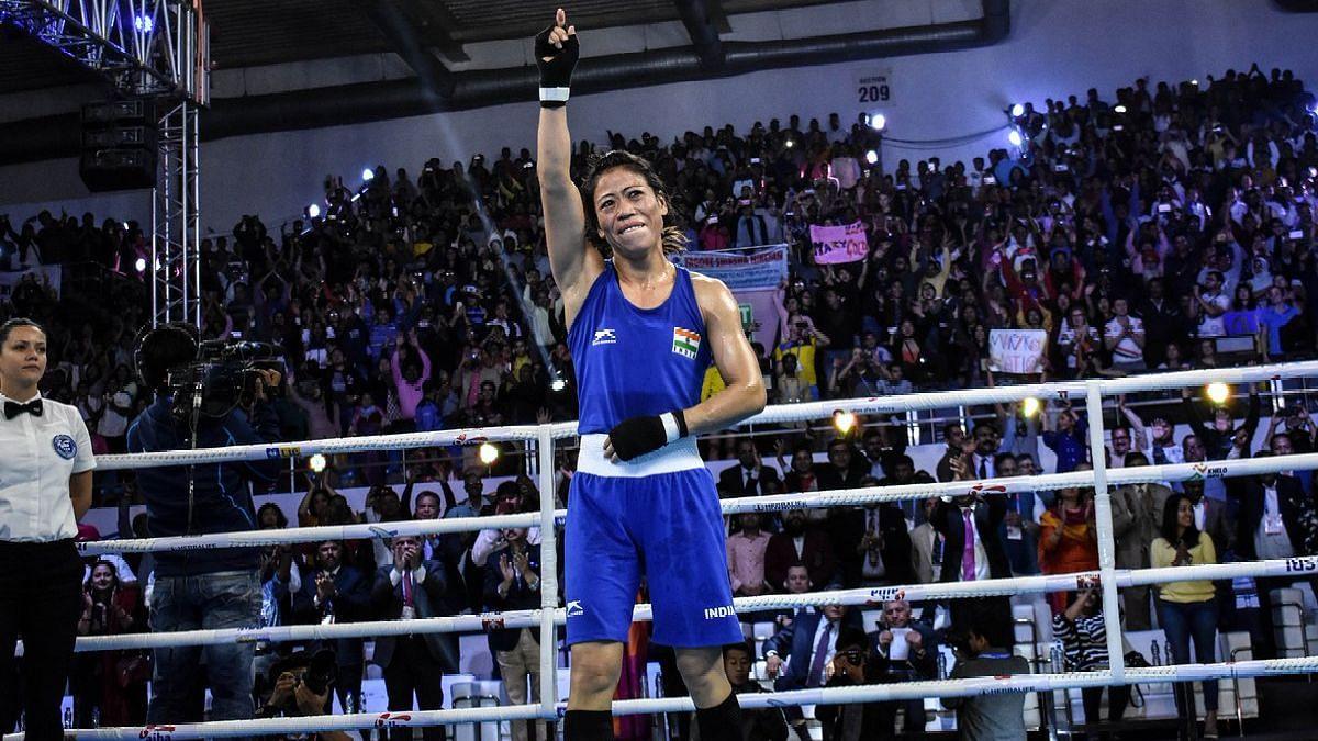 MC Mary Kom won a world-record sixth World Championship crown in New Delhi in November 2018.