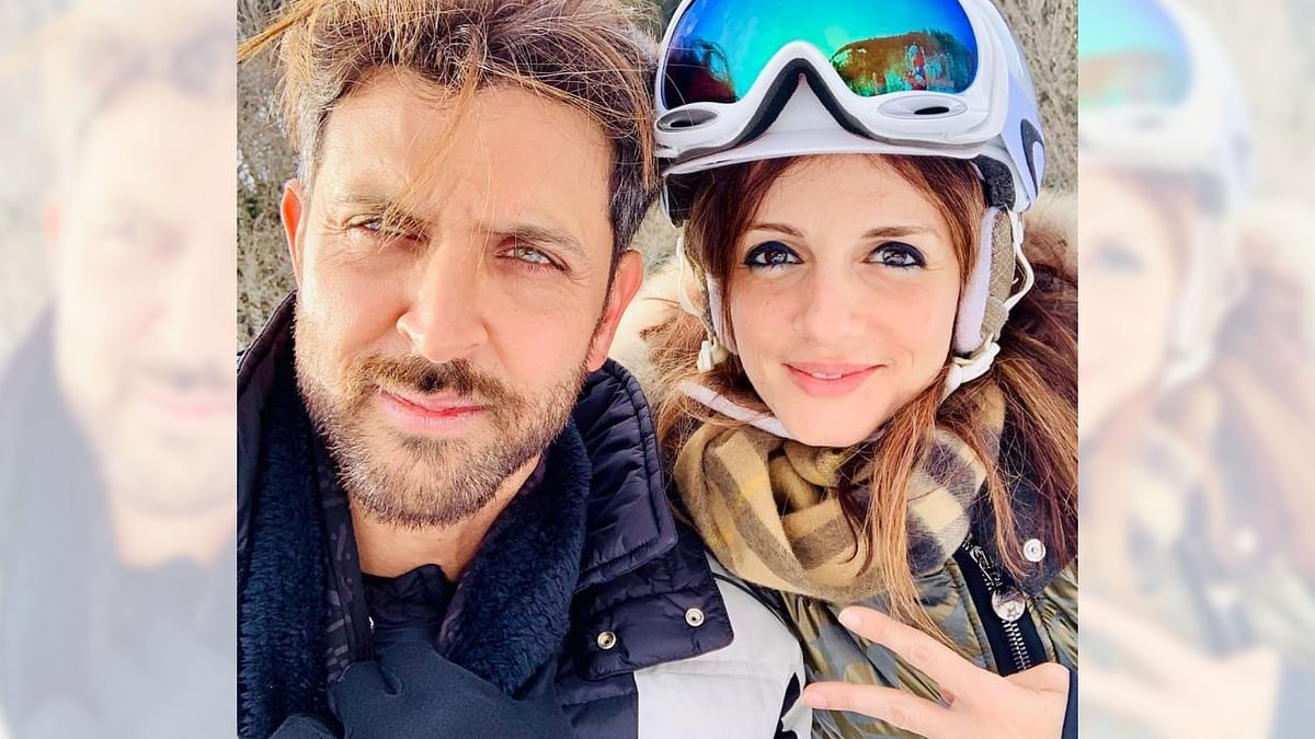 Hrithik Roshan and former wife Sussanne Khan on vacation.