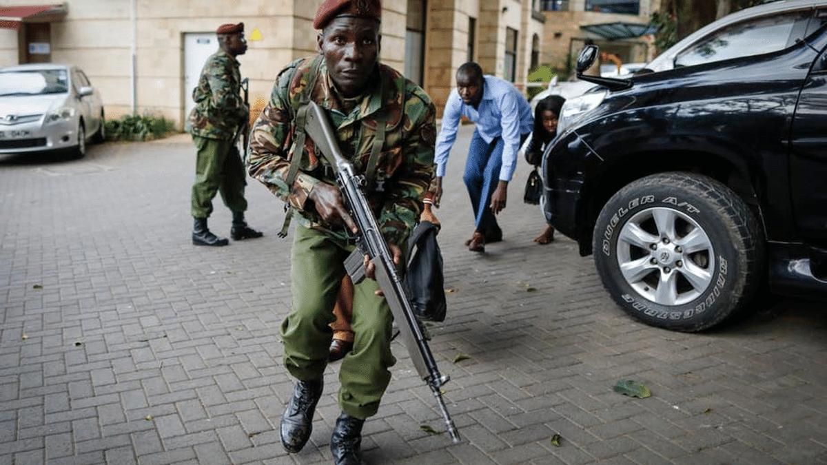 Evacuations during the Riverside terror attack in Nairobi, Kenya.