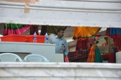 Chennai: Income Tax (IT) raids underway at a Saravana store in Chennai, on Jan 29, 2019. (Photo: IANS)