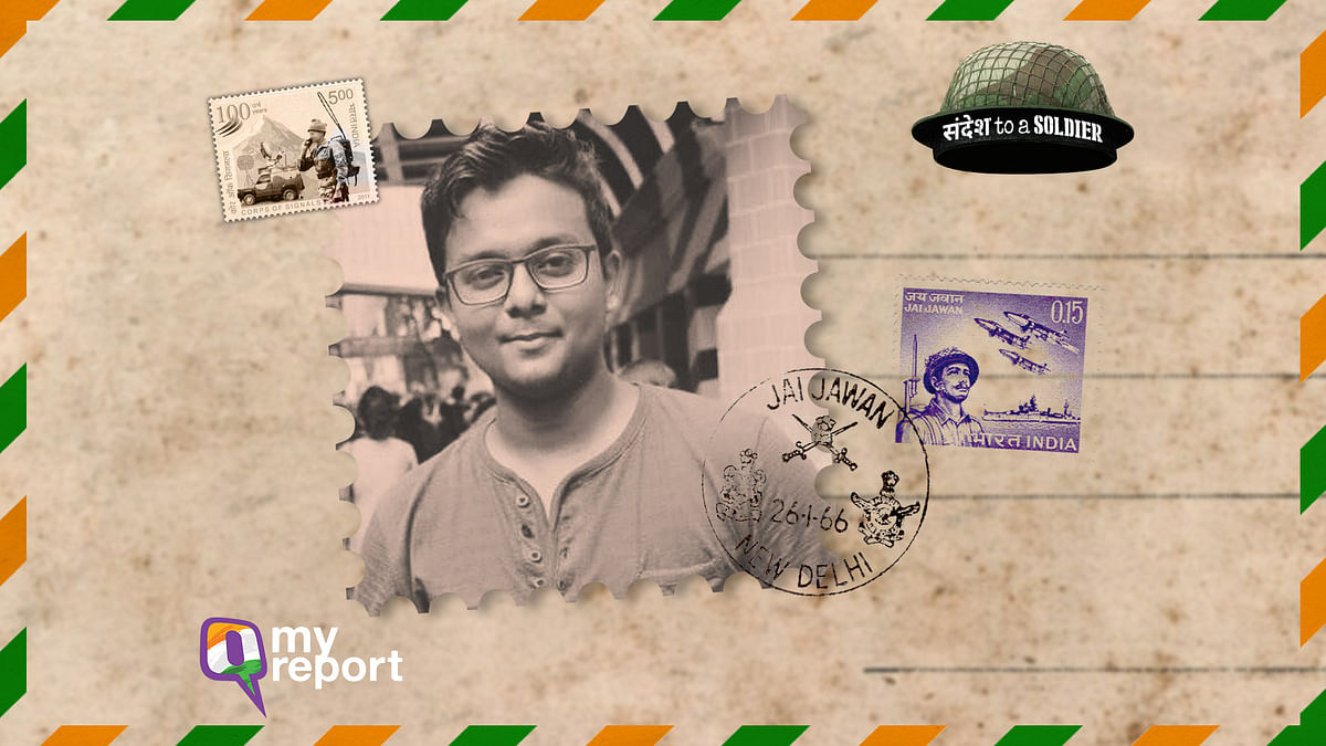 Anuvab sends his 'Sandesh to a Soldier' from Kolkata.