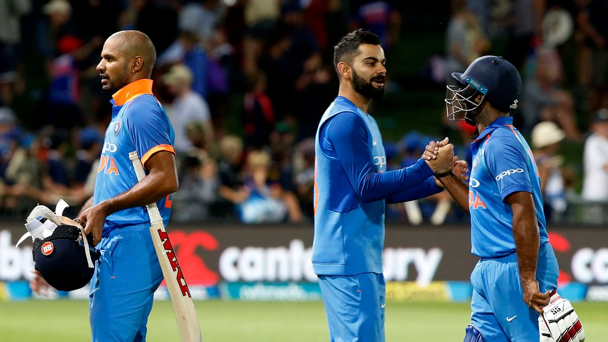 India coasted to an 8-wicket win in their ODI series opener against New Zealand at Napier.