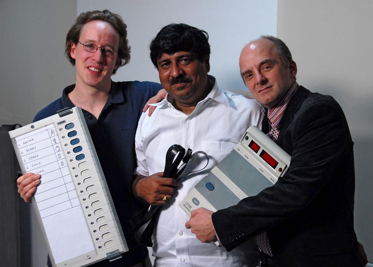 From L - R: J. Alex Halderman, Hari K. Prasad, Rop Gonggrijp in 2010
