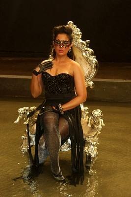 Mumbai: Actress Richa Chadda during the on set shoot of film Cabaret at Mehboob studio in Mumbai on February 9, 2016. (Photo: IANS)