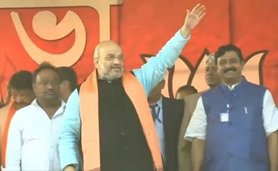 East Midnapore: BJP chief Amit Shah during a party rally in East Midnapore of West Bengal on Jan 29, 2019. (Photo: IANS)