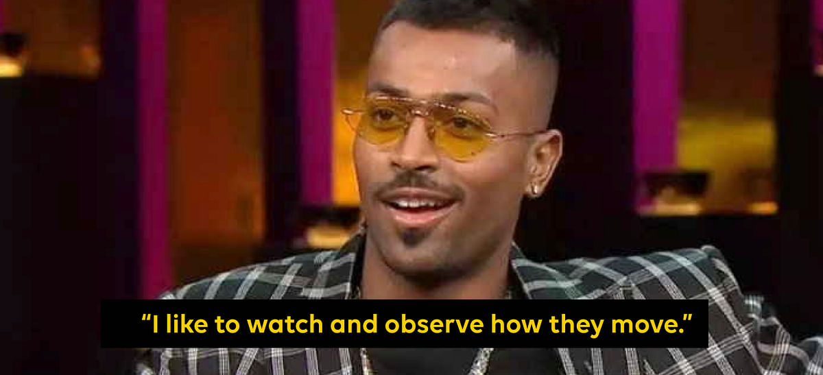Hardik Pandya at Koffee with Karan.