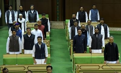 Rajasthan Assembly session begins: MLAs arrive barefoot, on tractors