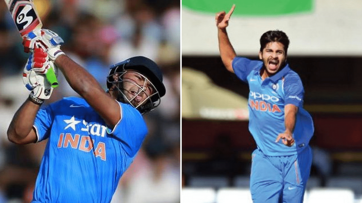 File pictures of Rishabh Pant and Shardul Thakur.