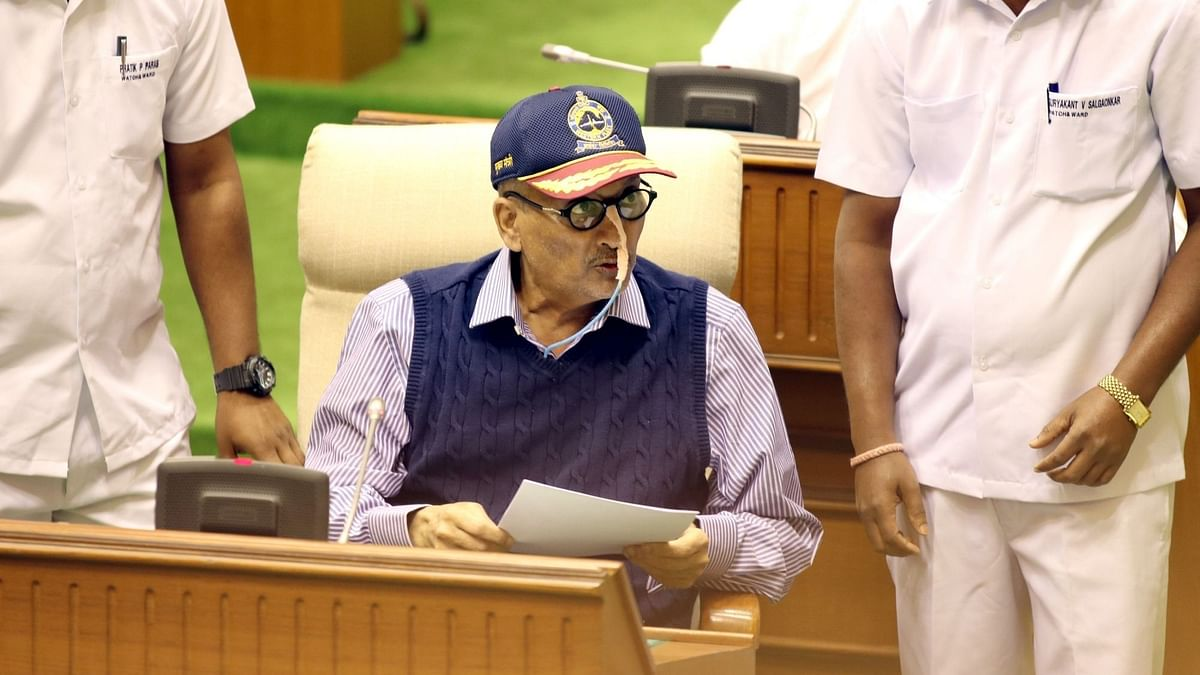 Ailing Goa Chief Minister Manohar Parrikar presents the annual state budget at Goa Assembly in Porvorim on 30 January 2019.