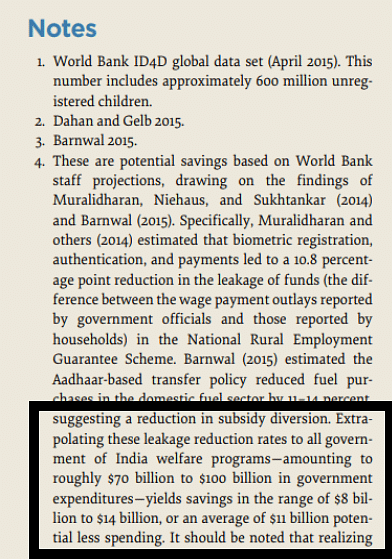 The revised footnote for the $11 billion claim