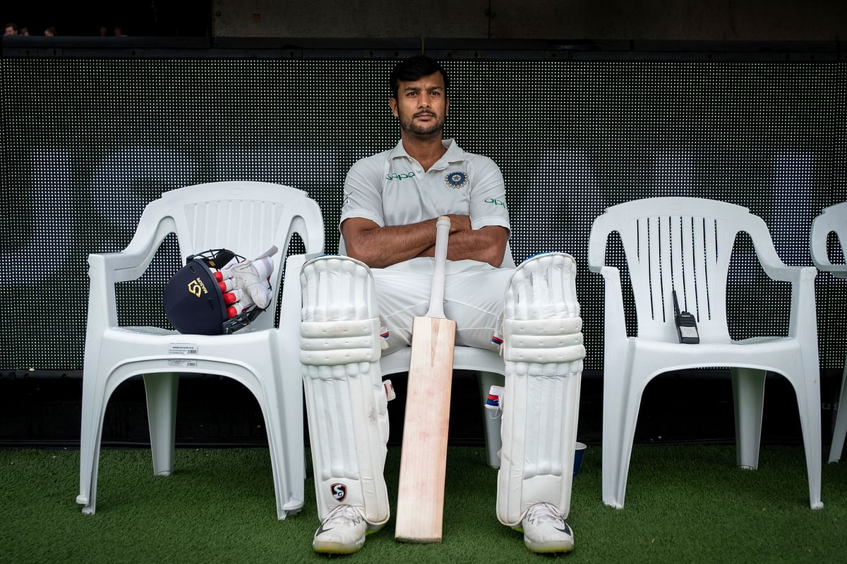 Mayank Agarwal played just two matches in this Test series and scored half-centuries in both.