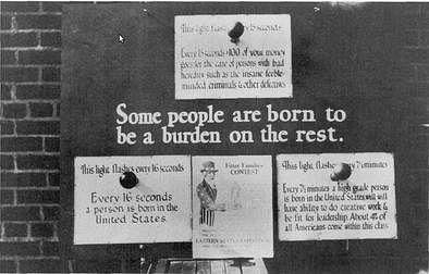 A eugenics propaganda poster.