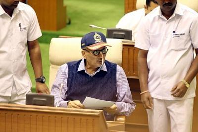 Porvorim (Goa):  Ailing Goa Chief Minister Manohar Parrikar, who also holds the finance ministry portfolio, presents the annual state budget at Goa Assembly in Porvorim, on Jan 30, 2019. (Photo: IANS)