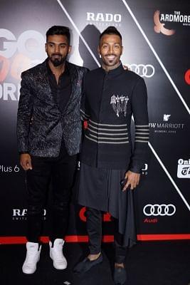 Cricketers Hardik Pandya and KL Rahul. (Photo: IANS)
