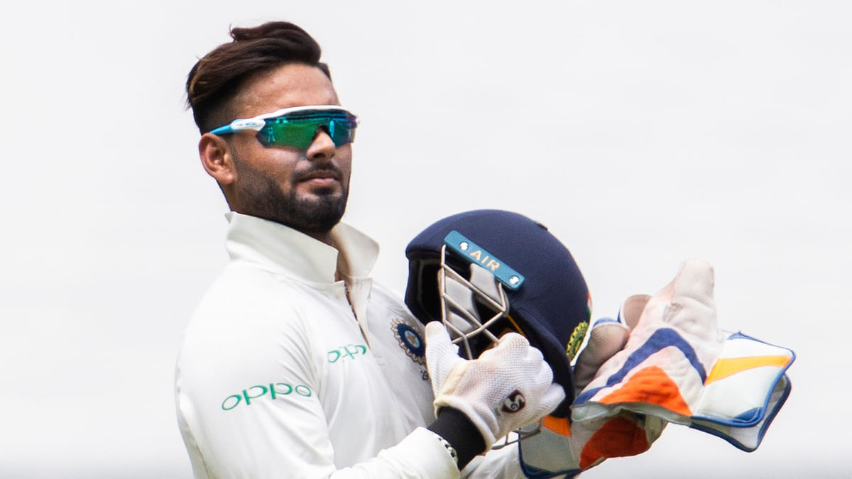 Rishabh Pant got hit on his elbow while batting in the first innings of the SCG Test.