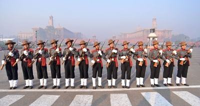 K9 Vajra during 2019 Republic Day rehearsals on Rajpath. (File Photo: IANS)