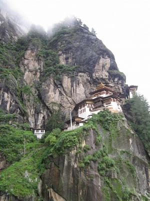 The world-acclaimed and the most iconic religious site Taktsang Monastery. It is located 10 km north of Paro town, some 50 km from Bhutan's capital city Thimphu.