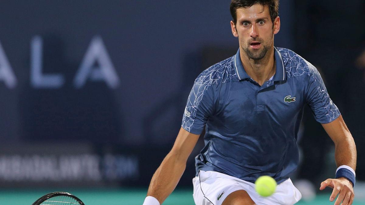 File photo of men's world number one Novak Djokovic in action at the Mubadala World Tennis Championship in Abu Dhabi.
