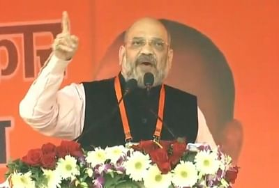 Kanpur: BJP President Amit Shah addresses a party meeting in Uttar Pradesh