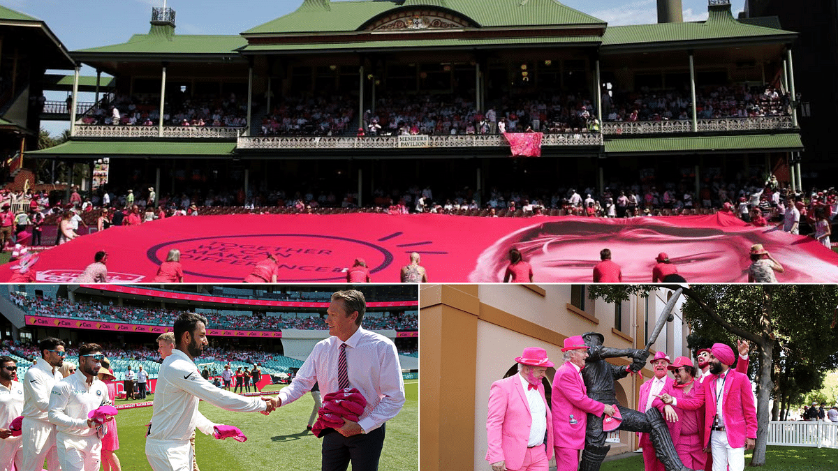 The third day of the New Year's Test at Sydney is known as 'Jane McGrath Day', with teams and fans donning pink in support of the fight against breast cancer.