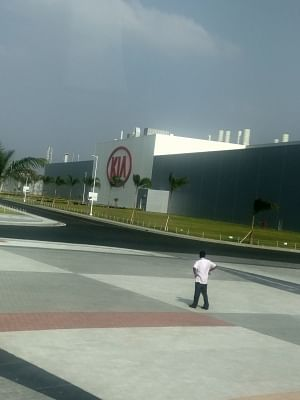 Anantapur: A view of the Anantapur plant of Kia Motors in Andhra Pradesh where it has commenced trial production, on Jan 29, 2019. (Photo: IANS)