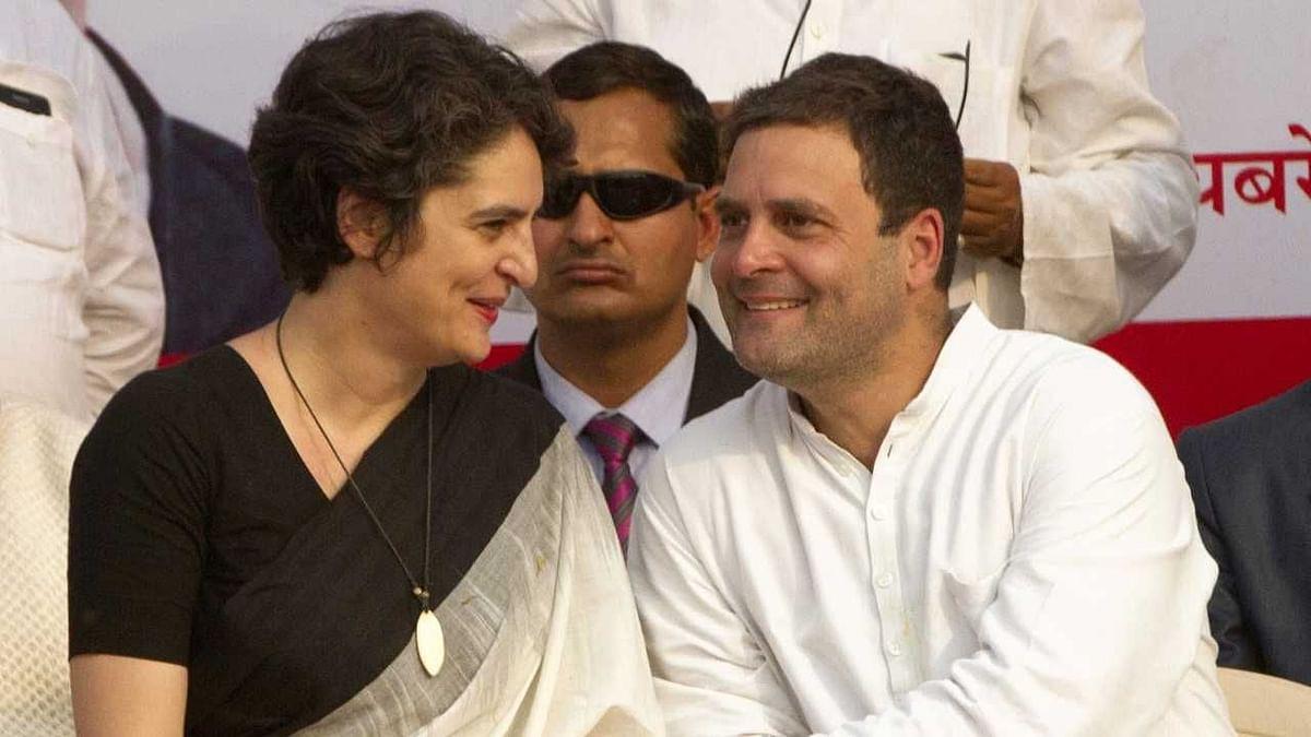 Priyanka Gandhi and Rahul Gandhi.
