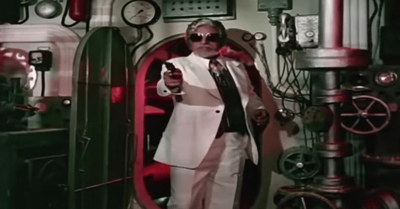 Kader Khan as Supremo in <i>Parvarish.</i>