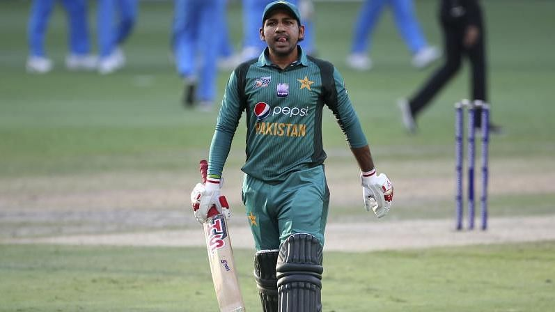 File picture of Pakistan captain Sarfraz Ahmed from the Asia Cup 2018.