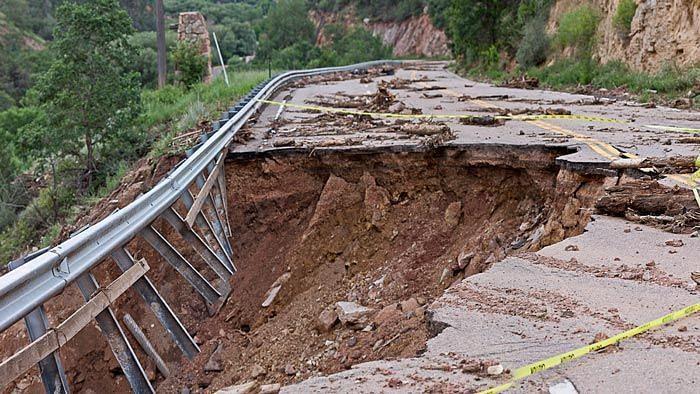 Representational image of a landslide.