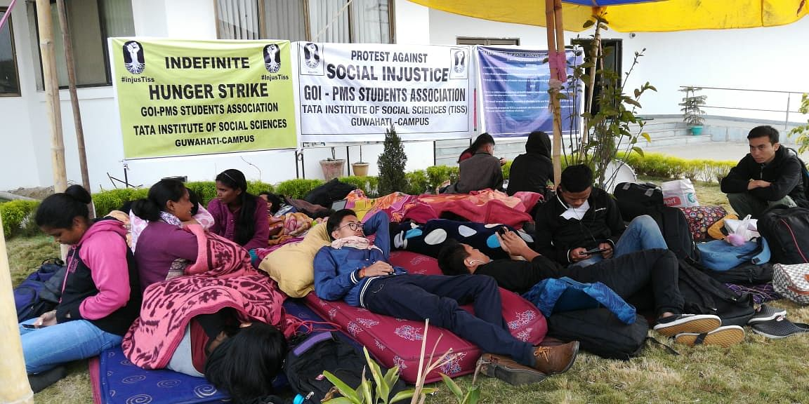 Students on an indefinite hunger strike.
