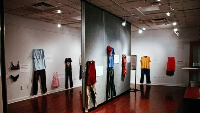 """To set aside the absurd notion regarding sexual abuse and """"victim-blaming"""", the Centre Communautaire Maritime in Brussels has put up an exhibition featuring clothing items that were worn by victims."""