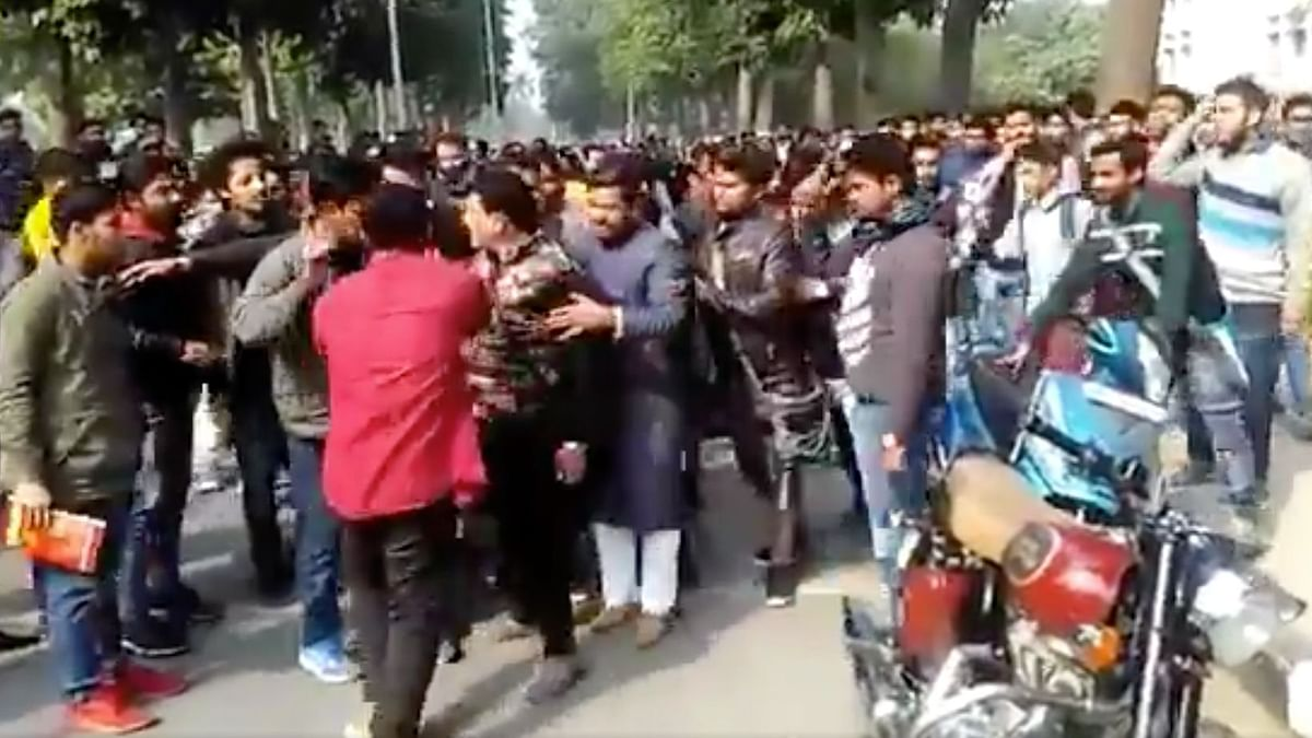 14 students were booked under sedition for allegedly raising 'anti-India' slogans during a scuffle at AMU.